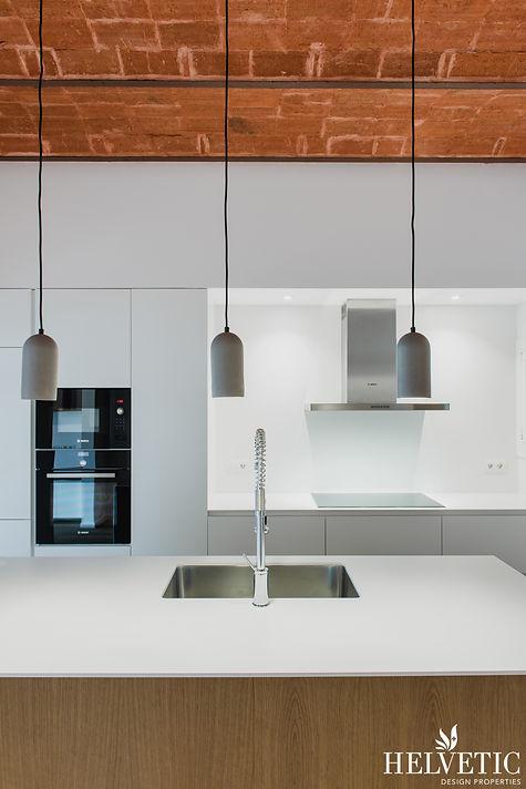 Reforma de cocina de diseño con bóveda modernista