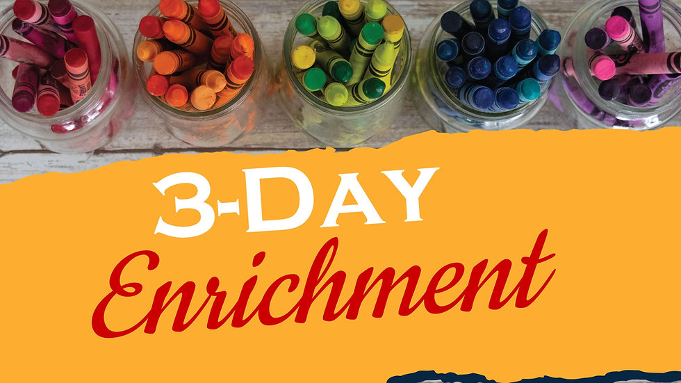 Preschool - 3 Day Enrichment