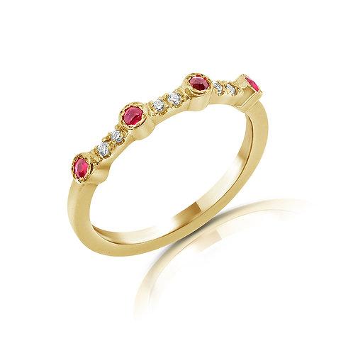 טבעת חצי נישואים מעוצבת
