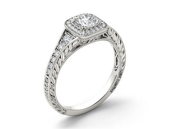 טבעת אירוסין חריטת וינטאג