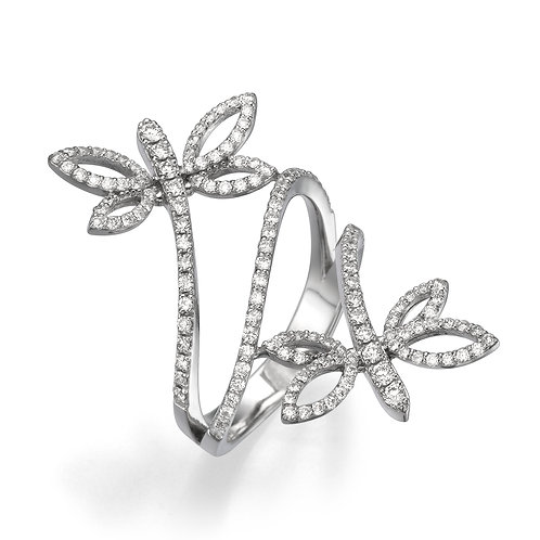 Butterfly's diamonds ring
