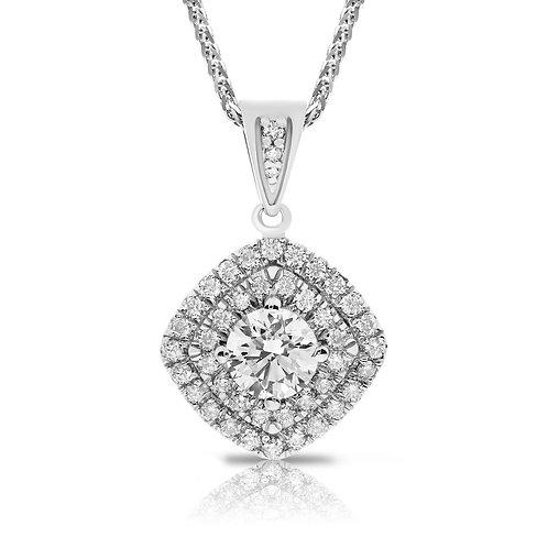 HALO PENDANT WITH DIAMONDS