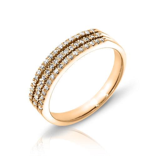 3 row diamonds ring