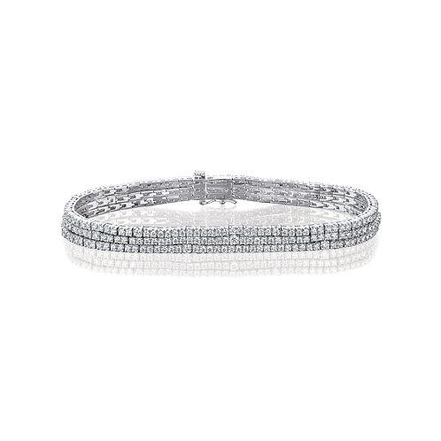 3 row tennis diamonds bracelet