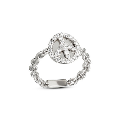 טבעת יהלומים פיס