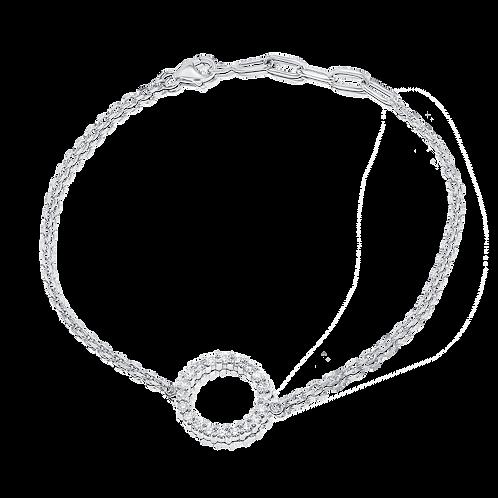 Circle diamonds bracelet