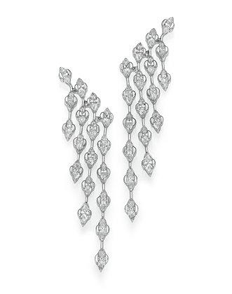 עגילי יהלומים שנדליר