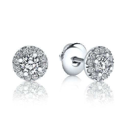 עגילי יהלומים דגם היילו