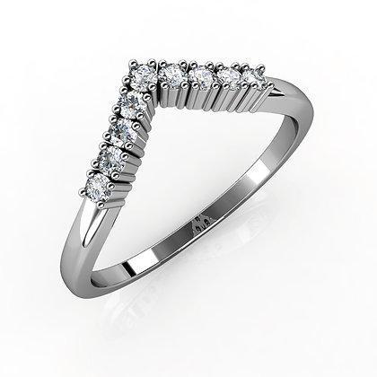 טבעת זהב עם יהלומים