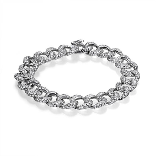 Cuban links diamonds bracelet