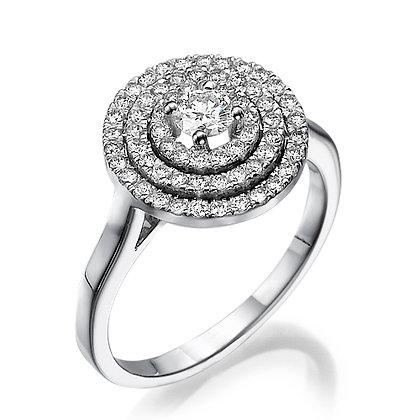 טבעת אירוסין 3 שורות