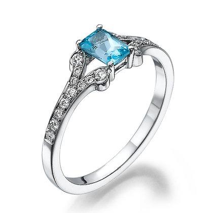 טבעת אקווה-מרין