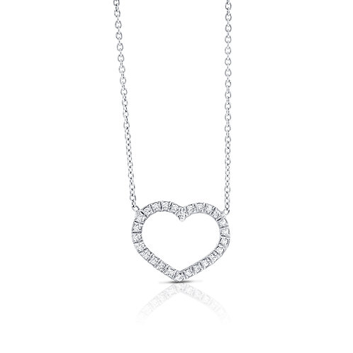 Heart diamonds pendant