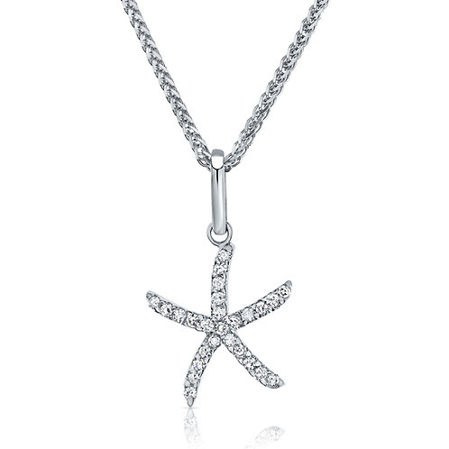 Sea star diamonds pendant