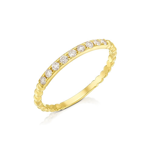 טבעת שורת יהלומים