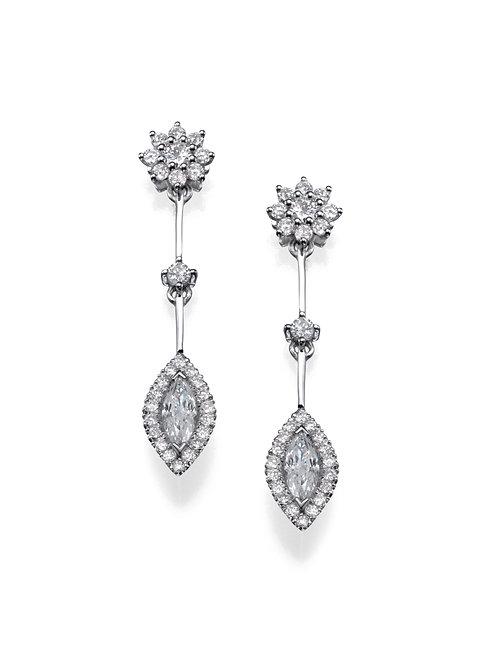 Drop diamonds earrings