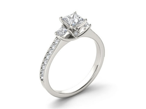 PRINCESS-CUT ENGAGEMENT RING