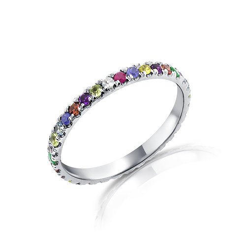 Gemstones eternity ring
