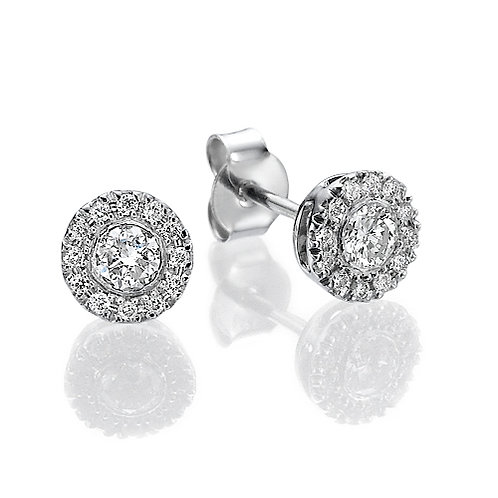 Halo diamonds earrings