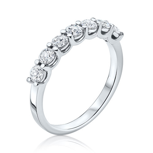 U-shape half eternity ring