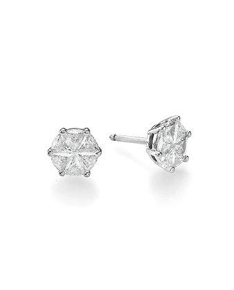 עגילי יהלומים אינביזיבל
