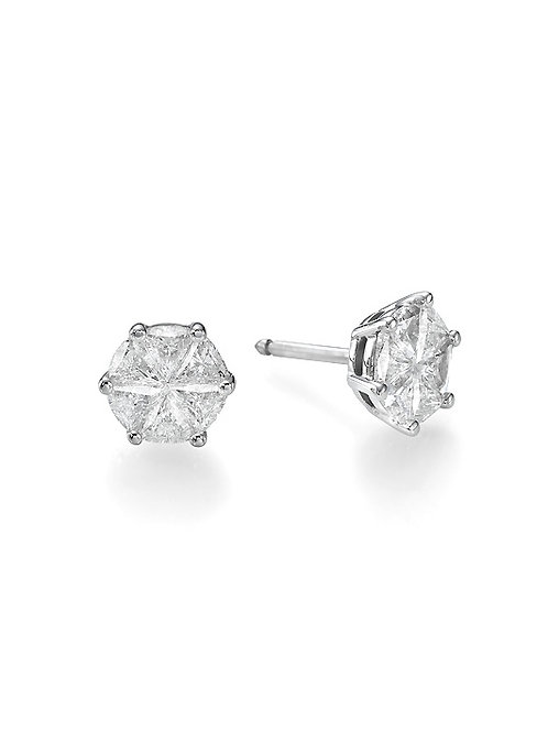 DIAMOND STUDS EARRING-INVISIBLE