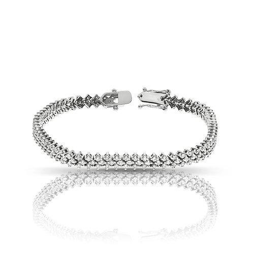 3 row diamonds tennis bracelet