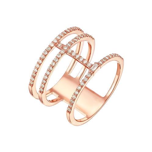 טבעת 3 שורות מעוצבת
