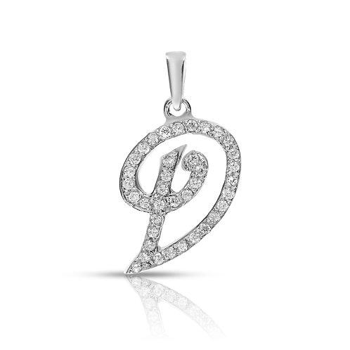 Letter diamonds pendant