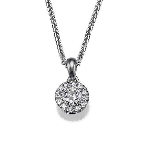 Halo diamonds pendant