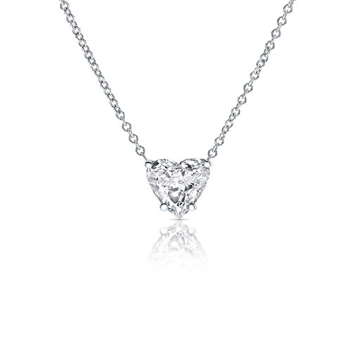 Classic heart shape diamond pendant