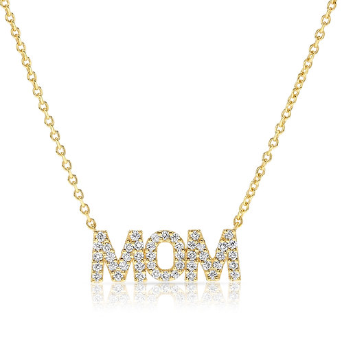 Mom diamonds pendant