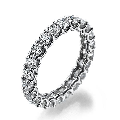 U-shape eternity ring