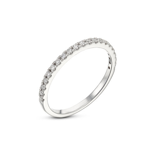 Half diamonds wedding band