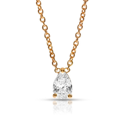 PEAR-SHAPE DIAMOND PENDANT