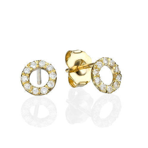 Diamonds circle earrings