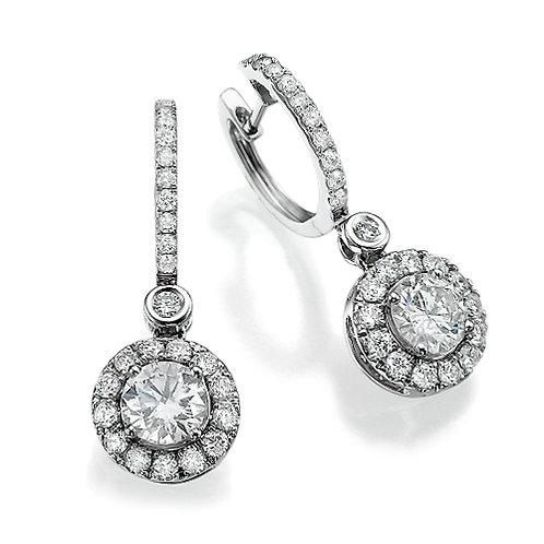 HALO DROP DIAMONDS EARRINGS