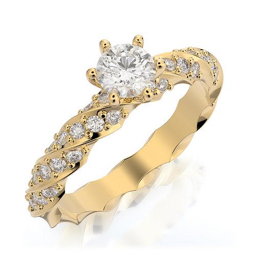 טבעת אירוסין מסולסלת