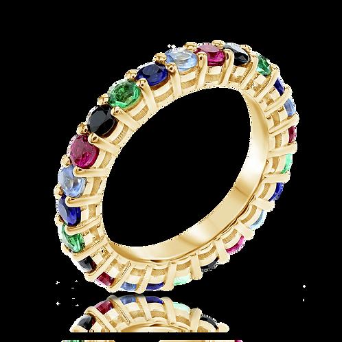 Gemstones eternity ring