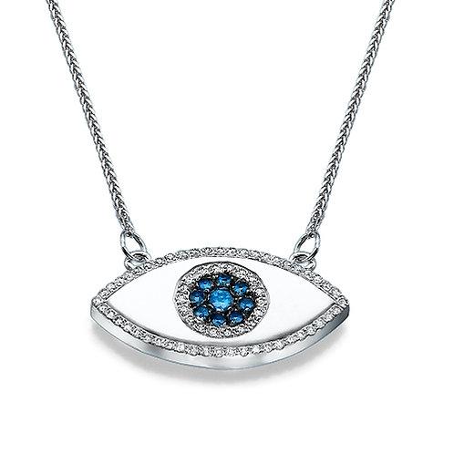 Eye diamonds & gemstones pendant