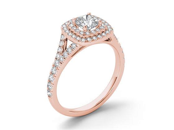 טבעת אירוסין שתי שורות