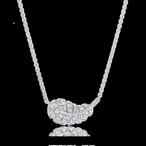 LEAF PENDANT WITH DIAMONDS