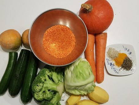 Soupe au curcuma et basilic, pour commencer l'année sainement 😋