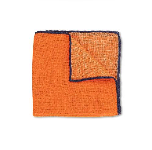 Orange Open Weave Cashmere Pocket Square