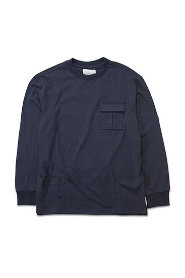 Pouch Pocket Long Sleeve Tee