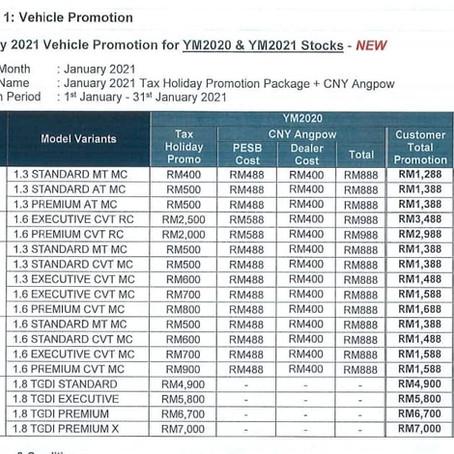Proton January Discount 2021 + Tax Holiday