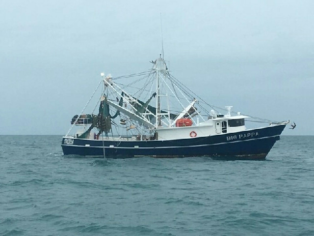 The Big Pappa is one of our biggest boats, this boat can bring in over 80,000 LBS of shrimp!