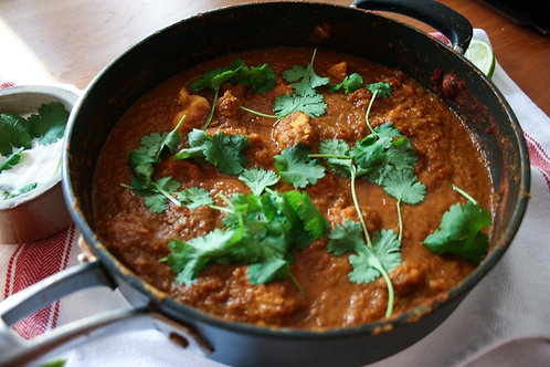 Chicken Madras with rice