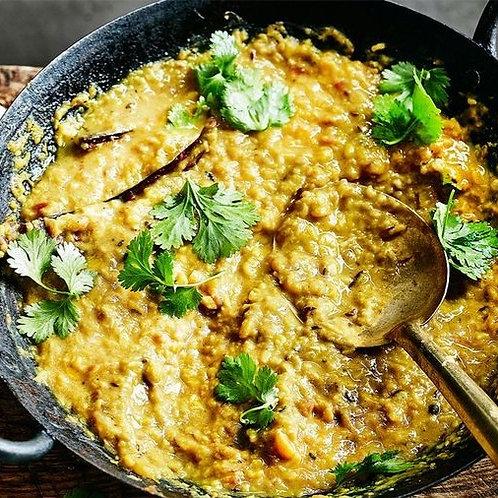 Tarka Dhall with rice