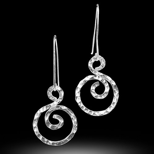 Letting Go Spiral wire earrings